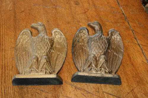 ANTIQUE VINTAGE CAST IRON BALD EAGLE BOOKENDS