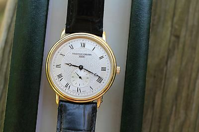 Frederique Constant Slim Line Gold plated Watch Ref. FC235X3S5