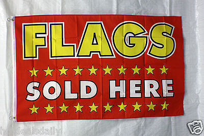 Flags Sold Here Flag 3x5 Banner Store Concession Business Advert Free Shipping