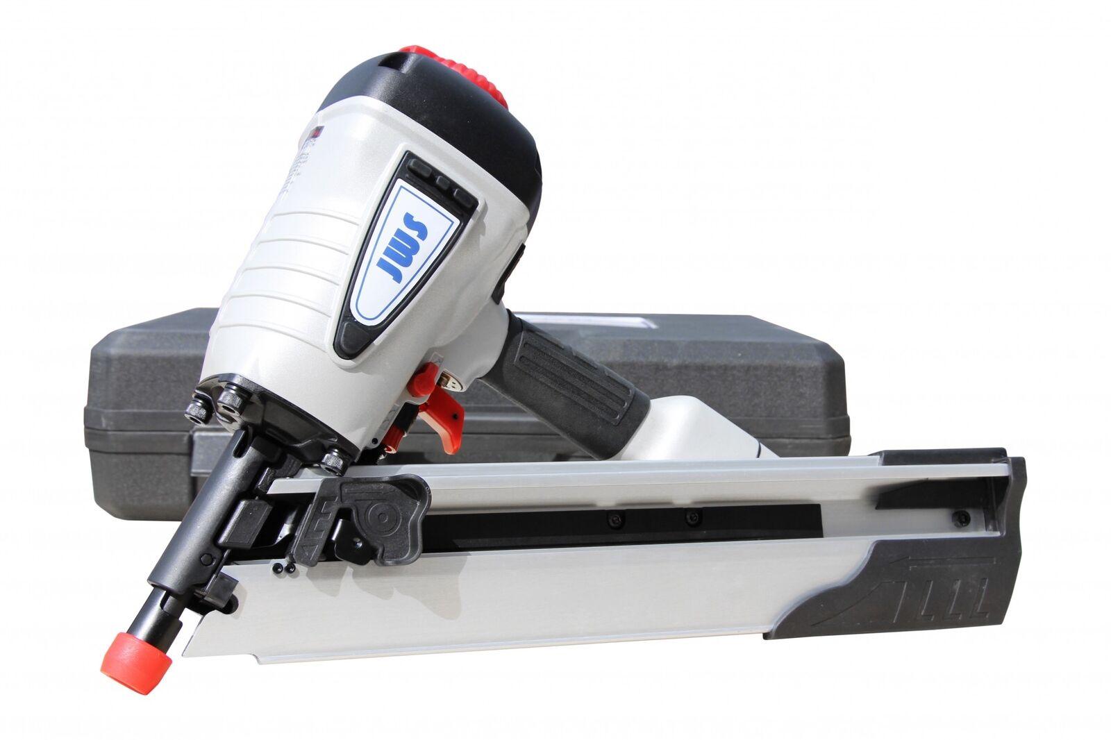 Druckluft Streifennagler Druckluftnagler Nagelgerät 34° 50mm bis 100mm Nagler