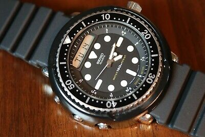 "Nice Vintage 5/82 Men's Seiko ""Arnie"" Diver H558-5000 From Predator Works Well"
