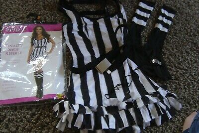 Spirit Womens Sexy Penalty Shot Referee Halloween Costume S 2/4