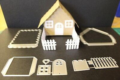 5 piece 3D House Metal Cutting Dies Brand New Cardmaking Scrapbooking