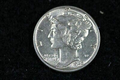 ESTATE FIND 1942 - Mercury Dime J01973 - $4.00