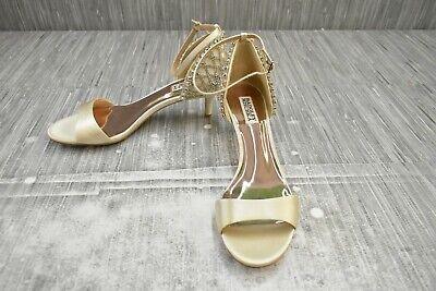 Badgley Mischka Adora Embellished Evening Heels, Women's Size 9, Ivory NEW