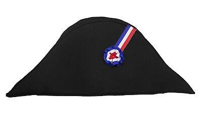 Napoleon Hut Zweispitz  Admiral Kostüm Mütze Soldat Pirat Karneval Faching
