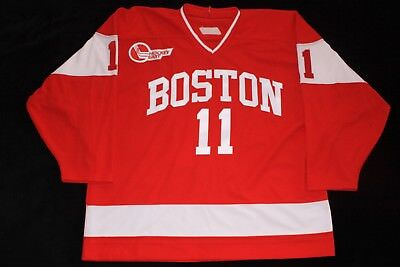 d8a9f81ea BU BOSTON TERRIERS   AUCION LACHANCE SABO   ALUMNI GAME WORN USED HOCKEY  JERSEY