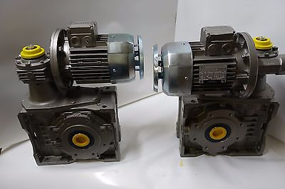 2bonfiglioli Worm Drive Gear Boxbn80c4 Ac Electric Motor Assembly Unit