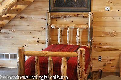 Half Bed Rails ( Deluxe Log Bed, Log Cabin Style! Half Log side rails, Matt supp., Log Furniture )