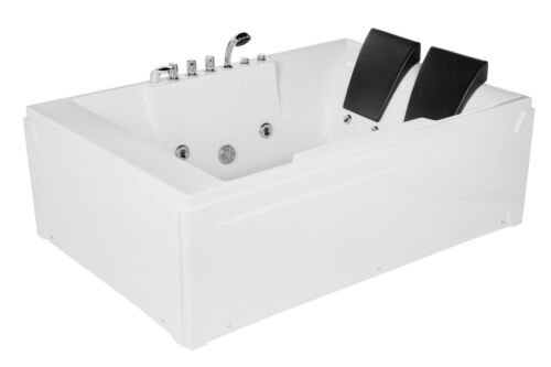 "Empava 72"" Acrylic Whirlpool Bathtub 2 Person Hydromassage Water Jets Alcove 367"