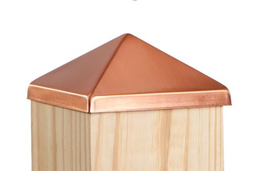 """4x4 Solid Copper Deck and Fence Post Cap (3 1/2"""" x 3 1/2"""")"""