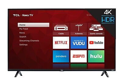 TCL 55 inch 4K Ultra HD HDR Roku Smart TV with 3...