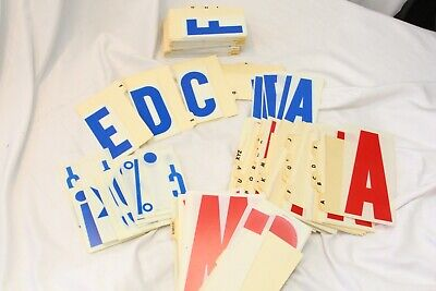 Marquee Sign Plastic Letters Numbers Blue 4 Red 6