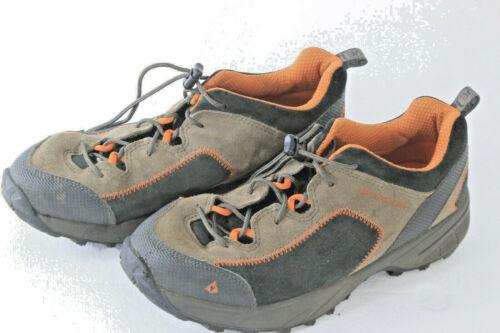 Vasque Boys Hiking Trail Walking Shoe Brown/Orange Leather 7203 Youth Size 6 G10