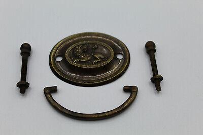 VTG Antique Hardware Brass Drop Bail Ring Pull 1.75