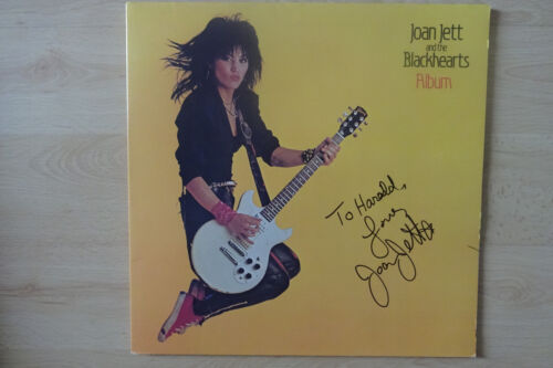 "Joan Jett and The Blackhearts Autogramm signed LP-Cover ""Album"" Vinyl"