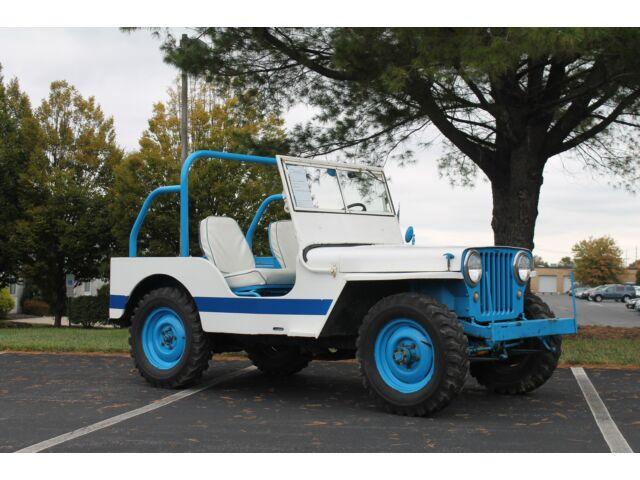 Willys CJ2A Jeep, CJ2A, 4x4, 3 speed, Blue and White