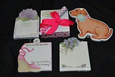 Lot 5 Sticky Notes Lady Jayne Ltd Pink Geo Wpen Die Cut Puppy Dog Shoe Flower