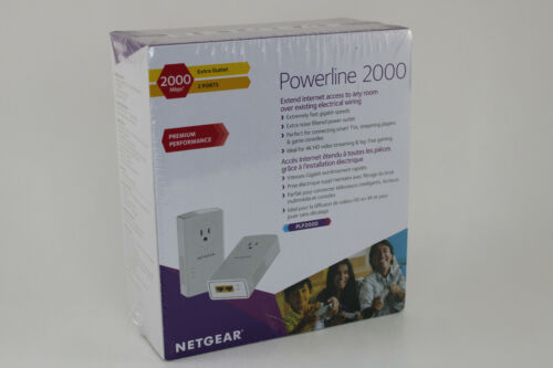 NETGEAR Powerline 2000 Plus Extra Outlet SEALED!