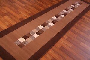 Dark-Chocolate-Brown-Modern-Long-Hall-Runner-Rug-Cheap-Carpet-Mats-New-9-Sizes