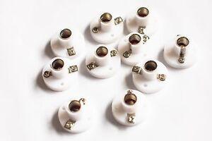MES Batten Bulb Holder x10 (10 Pack) 10mm Model Railways  Dolls House miniature