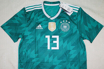 adidas Germany DFB 2018 Authentic Away Jersey Br3143 Green Teal Small S FIFA