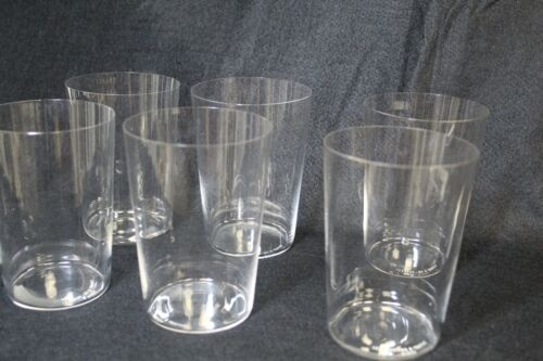 Elsa Peretti Tiffany & Co. Vintage Tumblers set of 6 Barware Crystal each signed