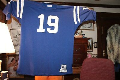 1970 Johnny Unitas THROWBACK JERSEY Size 58 Mitchell   Ness Baltimore Colts  Sewn 74196e211