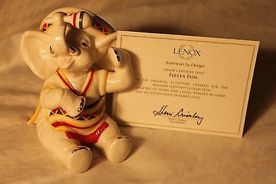 Lenox Fiesta Fun Elephant Figurine NIB w/COA ready for Cinco de Maya (Cinco De Maya)