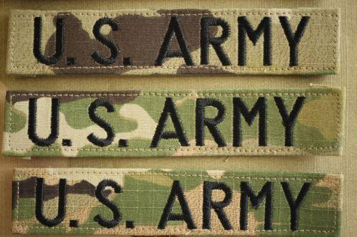 US ARMY GI SERVICE BRANCH MULTICAM OCP HOOK BACK CAMOUFLAGE CAMO UNIFORM TAPE