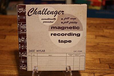 Challenger Magnetic Recording Tape 2400' Mylar Cat. #24M Full Range Fidelity