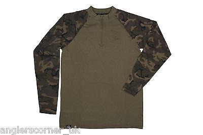 Fox Chunk Long Sleeve Zip Top Khaki Camo / Carp Fishing Clothing