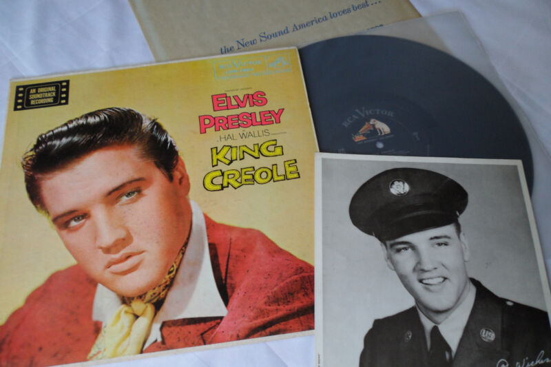 ELVIS Original 1958__1st PRESS__King Creole LP__BONUS PHOTO__LPM-1884__EX