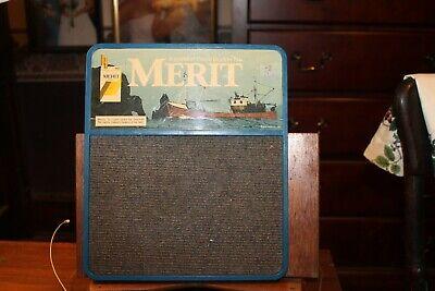 Vintage Merit Cigarettes Message Board Register Closed Sign -
