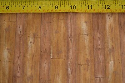 By 1/2 Yd, Brown Wood Floor Planks on Quilting Cotton/Marcus Bros, N149