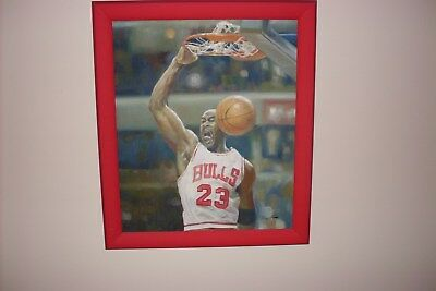 "Original Painting  ''Michael Jordan 1/1""  by Jen Liu - GOAT Masterpiece"