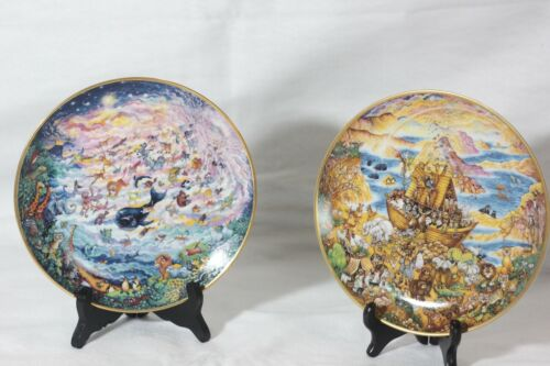 FRANKLIN MINT 2 Plate LOT Two by Two & In The Beginning By Bill Bell Limited Ed