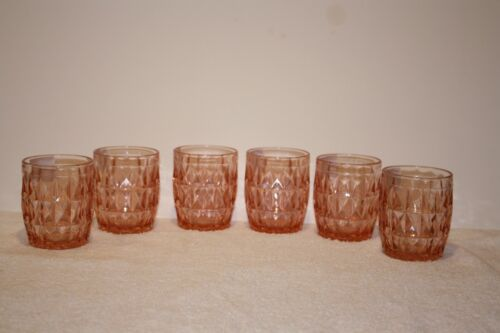 (6) Windsor Pink 5 ounce Juice Tumblers