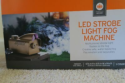 Fog Machine LED strobe Lights Halloween DJ Smoke Effect Machine Indoor Use *NEW* - Halloween Lighting Effects Machine