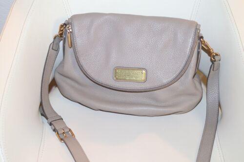 Marc By Marc Jacobs Dark Grey Taupe Leather Q Natasha Crossbody Bag - $80.00