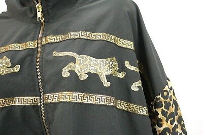 Vtg 90s Art to Wear Jacket Fashion Cheetah Hip Hop R&B Rap Plus Size Womens 4x