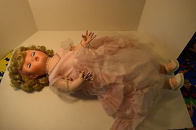 Vintage Doll, Blonde Hair, Unknown Brand, Clothes, 2 Feet Tall