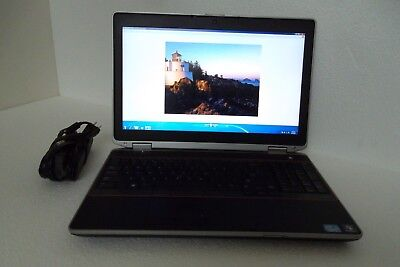 "Dell E6520 Latitude 15.6"" Intel Core i7 2.80GHz 4GB DVDROM Wi-Fi 120GB BT WebCAM"