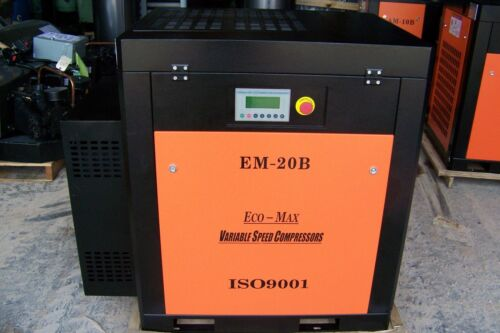 Eco-Max  20hp 460 Volt (New Variable speed) Industrial  Rotary Screw Compressor