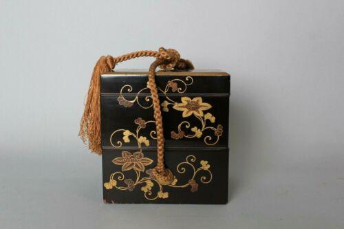 Fine makie lacquered box . 18-19th century HH79