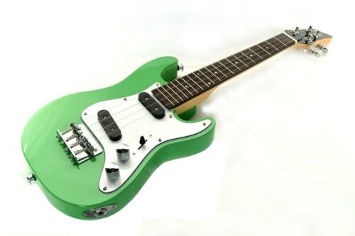 B-stock Tenor Ukulele Electric Solid body Green SC style Guitar by Clearwater