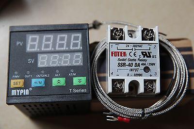 Digital Fc Pid Thermostat Temperature Controller Ta4-ssr K Sensor 40a Ssr