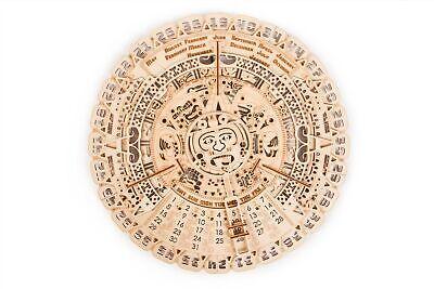 - Wood Trick Mayan Calendar Model Mechanical Wooden 3D Puzzle Self Assembly Kit