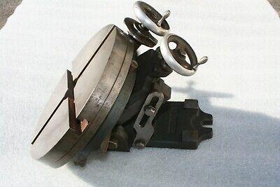 Palmgren 10 X Y Tilting Rotary Table Machinist Cnc Mill Vise Metal Lathe