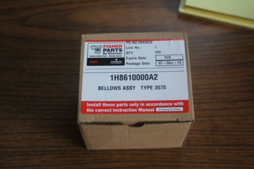 Fisher Controls Bellows Assembly 1H8610000A2